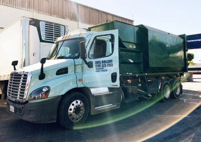 Los Angeles Industrial Roll Off with Trash Compactor Container
